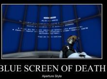 blue screen of death creador